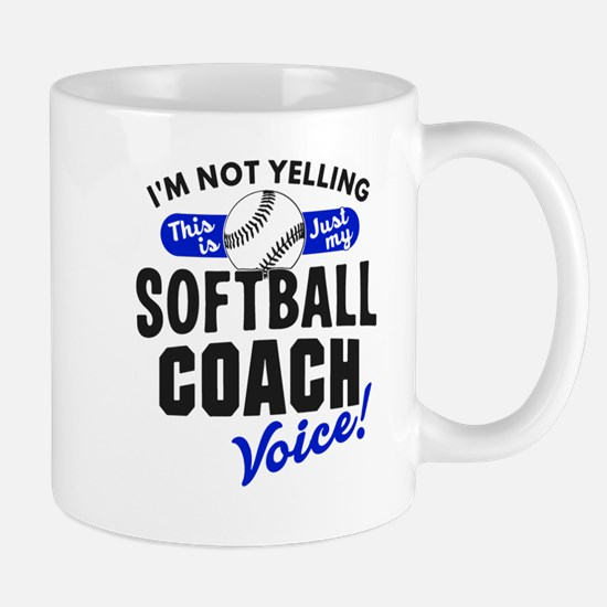 Softball Coach Voice Mugs