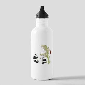 Panda Bamboo Stainless Water Bottle 1.0L