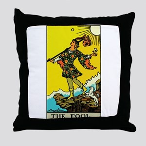 The Fool Tarot Card Throw Pillow
