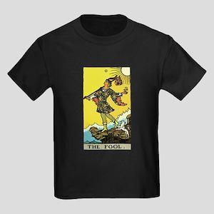 The Fool Tarot Card Kids Dark T-Shirt