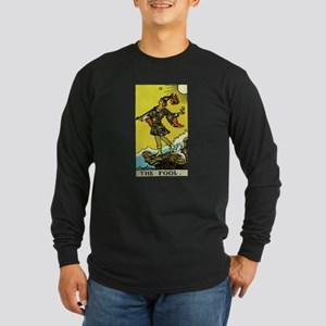 The Fool Tarot Card Long Sleeve Dark T-Shirt