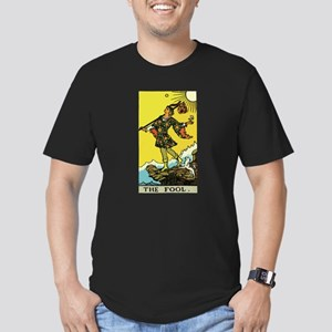 The Fool Tarot Card Men's Fitted T-Shirt (dark)