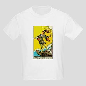 The Fool Tarot Card Kids Light T-Shirt