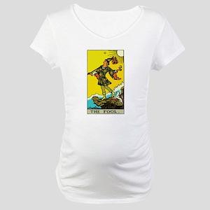 The Fool Tarot Card Maternity T-Shirt