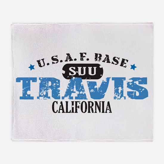 Travis Air Force Base Throw Blanket