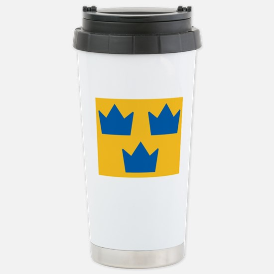 Sweden Hockey Logo Stainless Steel Travel Mug