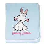 Dog Easter baby blanket
