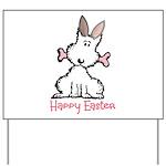 Dog Easter Yard Sign