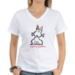 Dog Easter Women's V-Neck T-Shirt