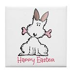 Dog Easter Tile Coaster