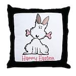 Dog Easter Throw Pillow