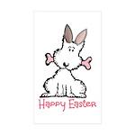 Dog Easter Sticker (Rectangle 10 pk)