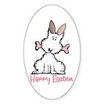 Dog Easter Sticker (Oval)