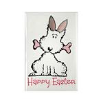 Dog Easter Rectangle Magnet (100 pack)
