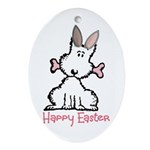 Dog Easter Ornament (Oval)