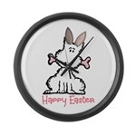 Dog Easter Large Wall Clock