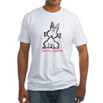 Dog Easter Fitted T-Shirt