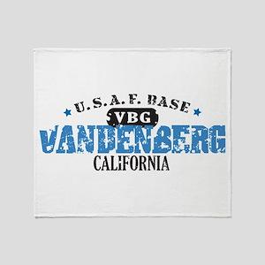 Vandenberg Air Force Base Throw Blanket