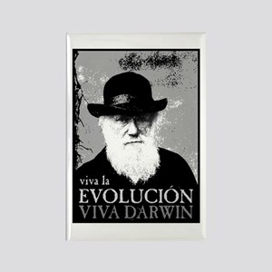 Viva Darwin Evolucion Rectangle Magnet