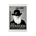 Viva Darwin Evolucion Rectangle Magnet