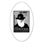 Viva Darwin Evolucion Sticker (Oval 10 pk)