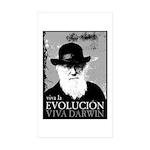 Viva Darwin Evolucion Sticker (Rectangle 10 pk)
