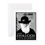 Viva Darwin Evolucion Greeting Card
