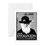 Viva Darwin Evolucion Greeting Cards (Pk of 10)