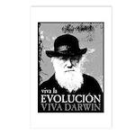 Viva Darwin Evolucion Postcards (Package of 8)