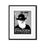 Viva Darwin Evolucion Framed Panel Print