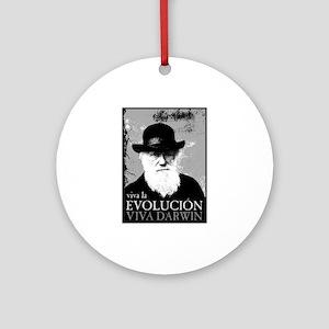 Viva Darwin Evolucion Ornament (Round)