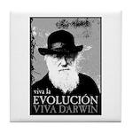 Viva Darwin Evolucion Tile Coaster