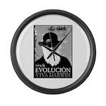 Viva Darwin Evolucion Large Wall Clock