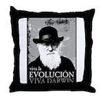 Viva Darwin Evolucion Throw Pillow