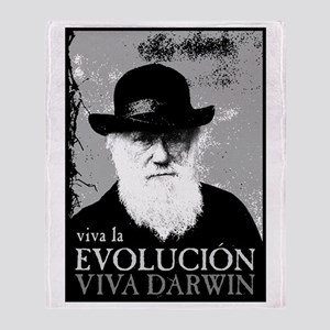 Viva Darwin Evolucion Throw Blanket
