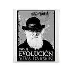 Viva Darwin Evolucion Throw Blanket