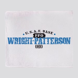 Wright Patterson Air Force Throw Blanket