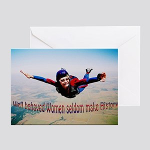 Well behaved Women seldom Mak Greeting Cards (Pack