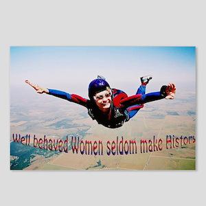 Well behaved Women seldom Mak Postcards (Package o