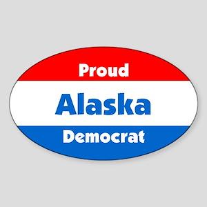 Proud Alaska Democrat Oval Sticker