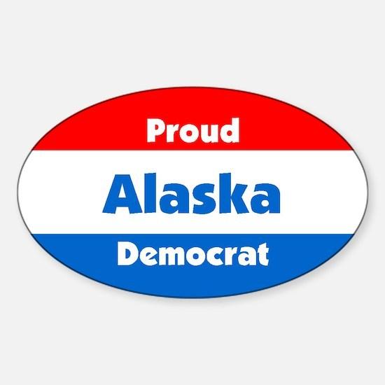 Proud Alaska Democrat Oval Decal