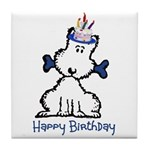 Dog Birthday Tile Coaster