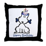 Dog Birthday Throw Pillow