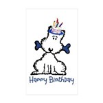 Dog Birthday Sticker (Rectangle 50 pk)