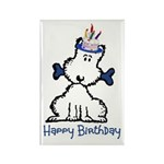 Dog Birthday Rectangle Magnet (100 pack)