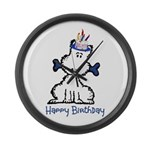 Dog Birthday Large Wall Clock