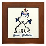 Dog Birthday Framed Tile