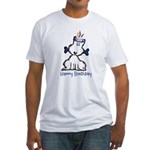 Dog Birthday Fitted T-Shirt