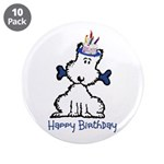 "Dog Birthday 3.5"" Button (10 pack)"