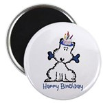 "Dog Birthday 2.25"" Magnet (10 pack)"